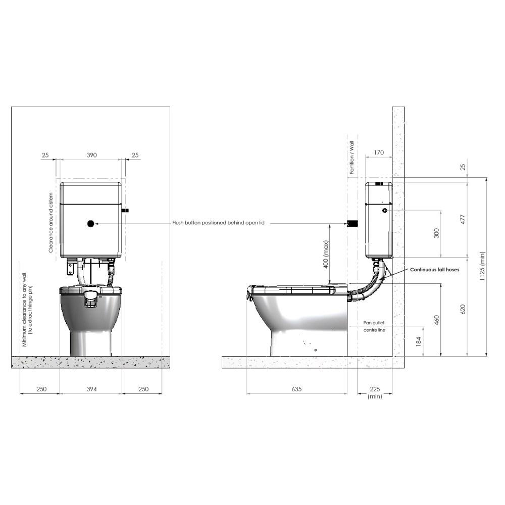 medium resolution of propelair high performance toilet dimensions diagram