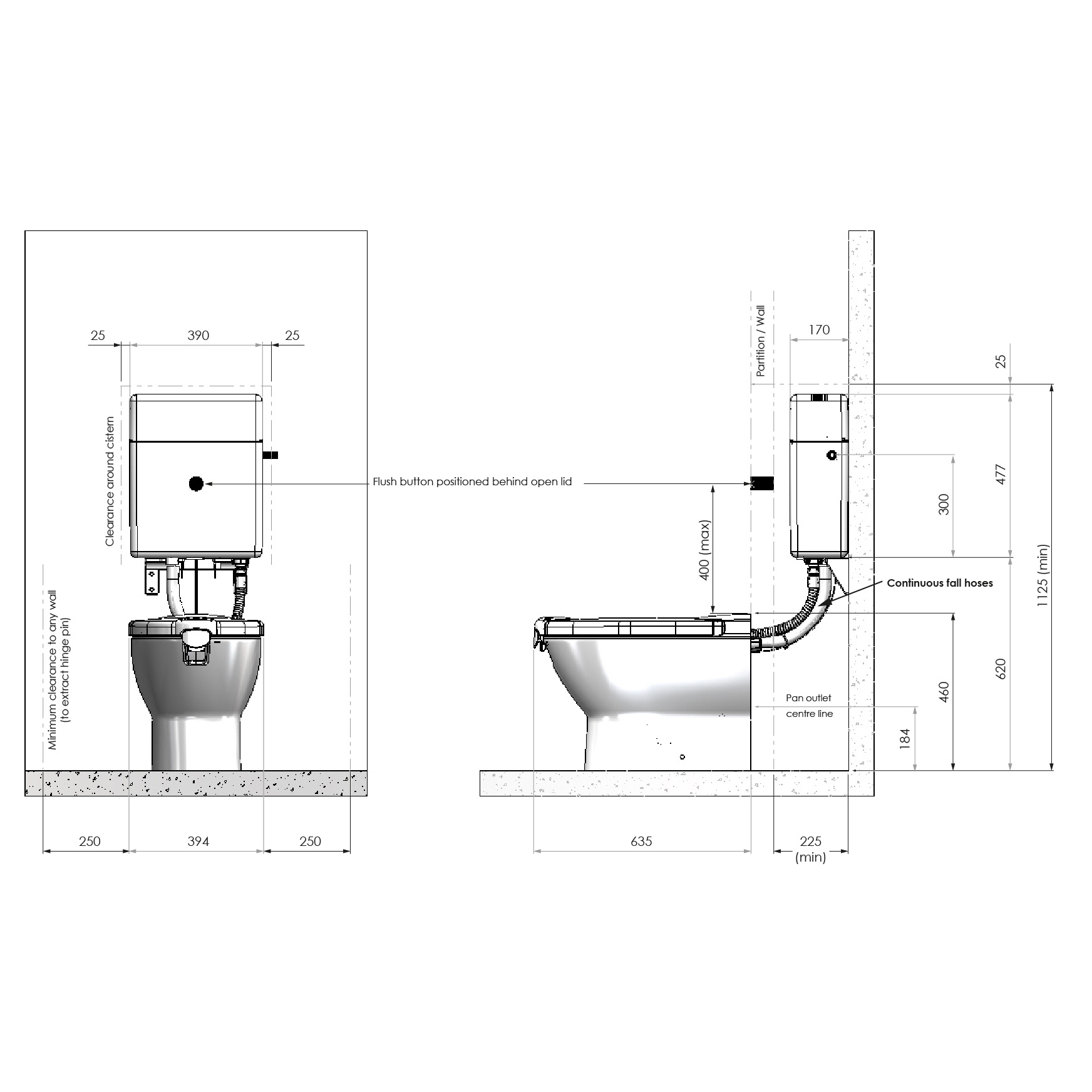 hight resolution of propelair high performance toilet dimensions diagram