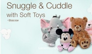 Soft Toys 50% off or more from Rs. 139 – Amazon image