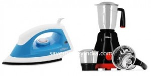 Billion Irons & Mixer Grinders upto 45% off + 10% off from Rs. 539 – FlipKart image