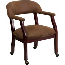 brown office guest chairs haworth very task chair conferenence desk side with casters