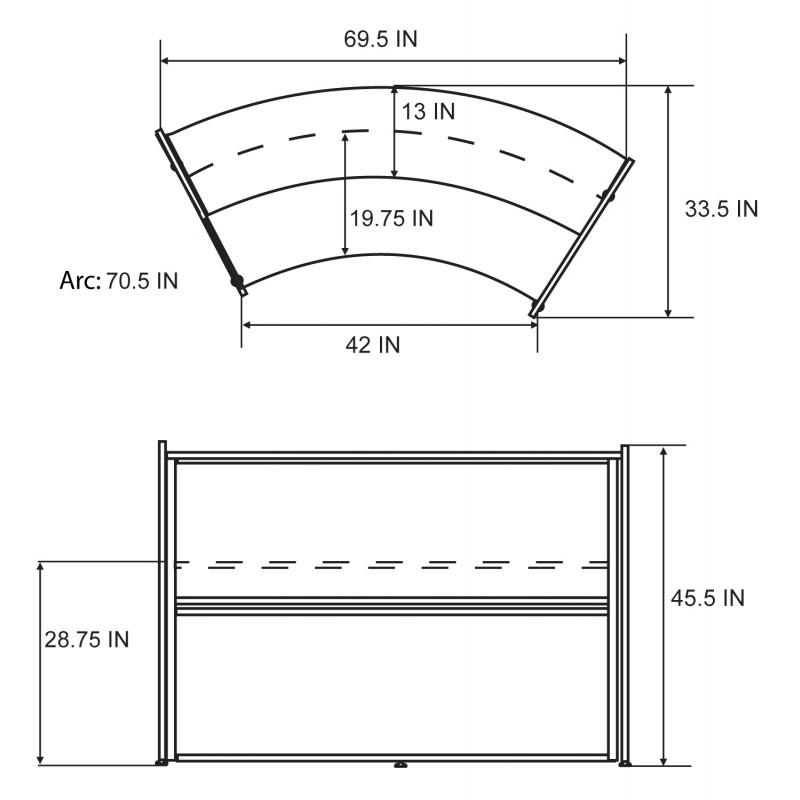 Contemporary Reception Desk in Maple Finish with Silver