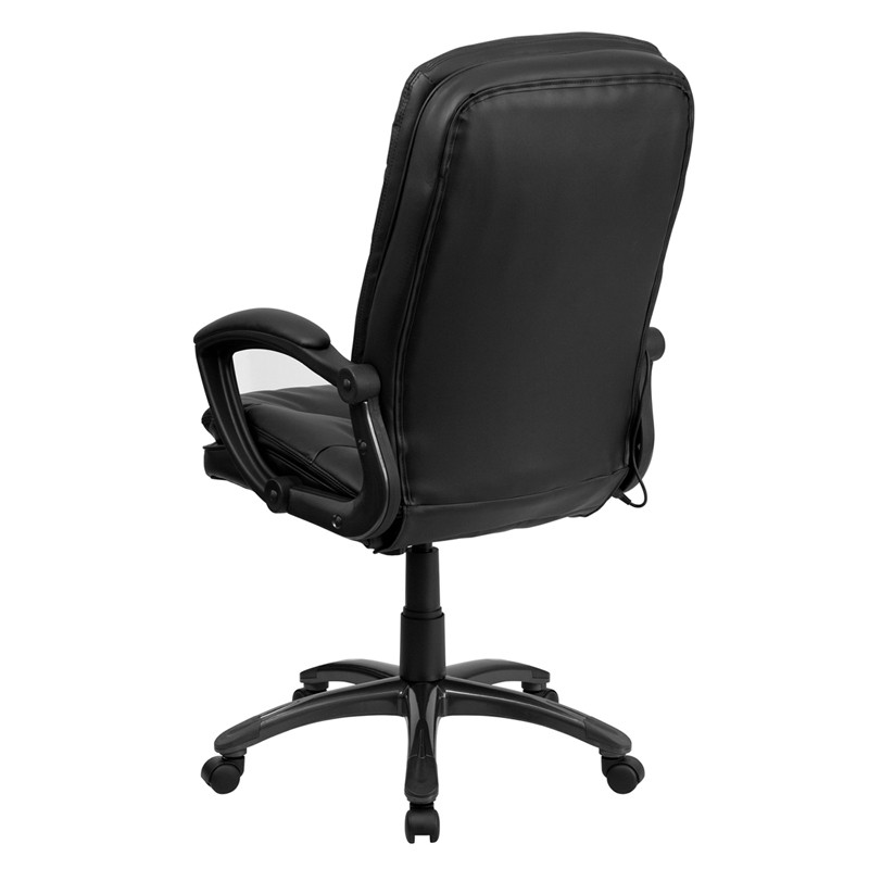 Extra Soft Double Padded Black Leather Massage Office Desk