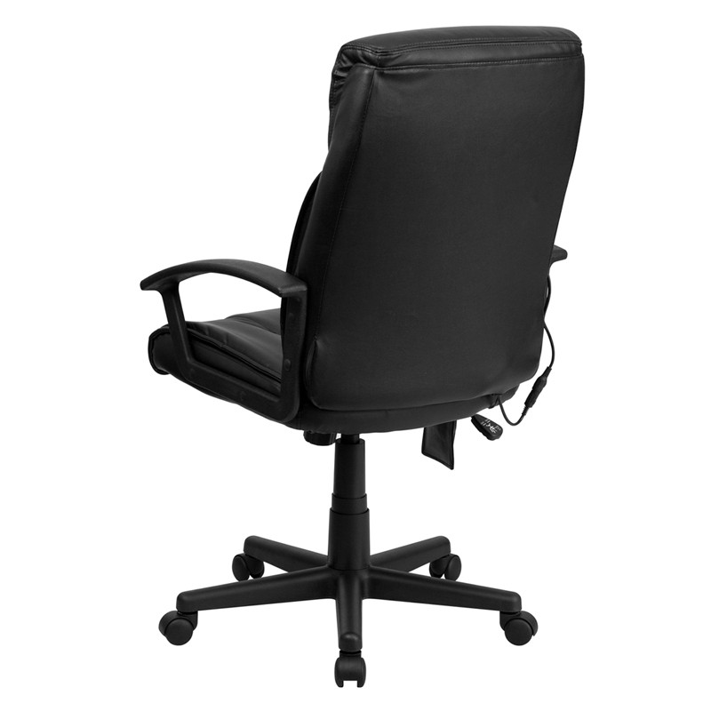 Hiqh Quality Black Leather Massage Office Desk Chair with