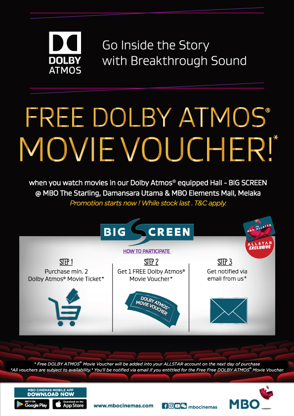 MBO Cinemas – Free Dolby Atmos Movie Voucher Giveaway – Promotions