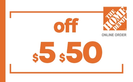 $5 OFF $50 HOME DEPOT ONLINE COUPONS