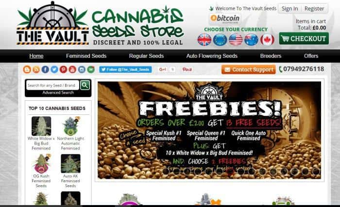 Get the vault cannabis seeds store coupon codes here order online the vault cannabis seeds store fandeluxe Images