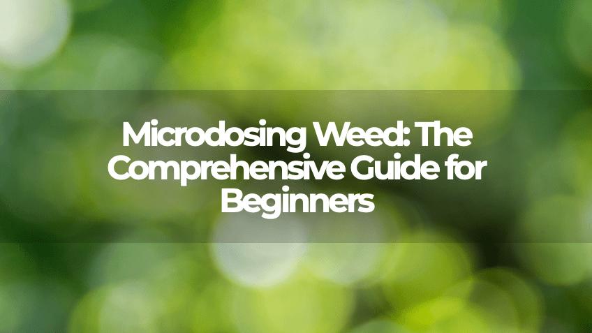 Microdosing Weed - Blog - Save On Cannabis