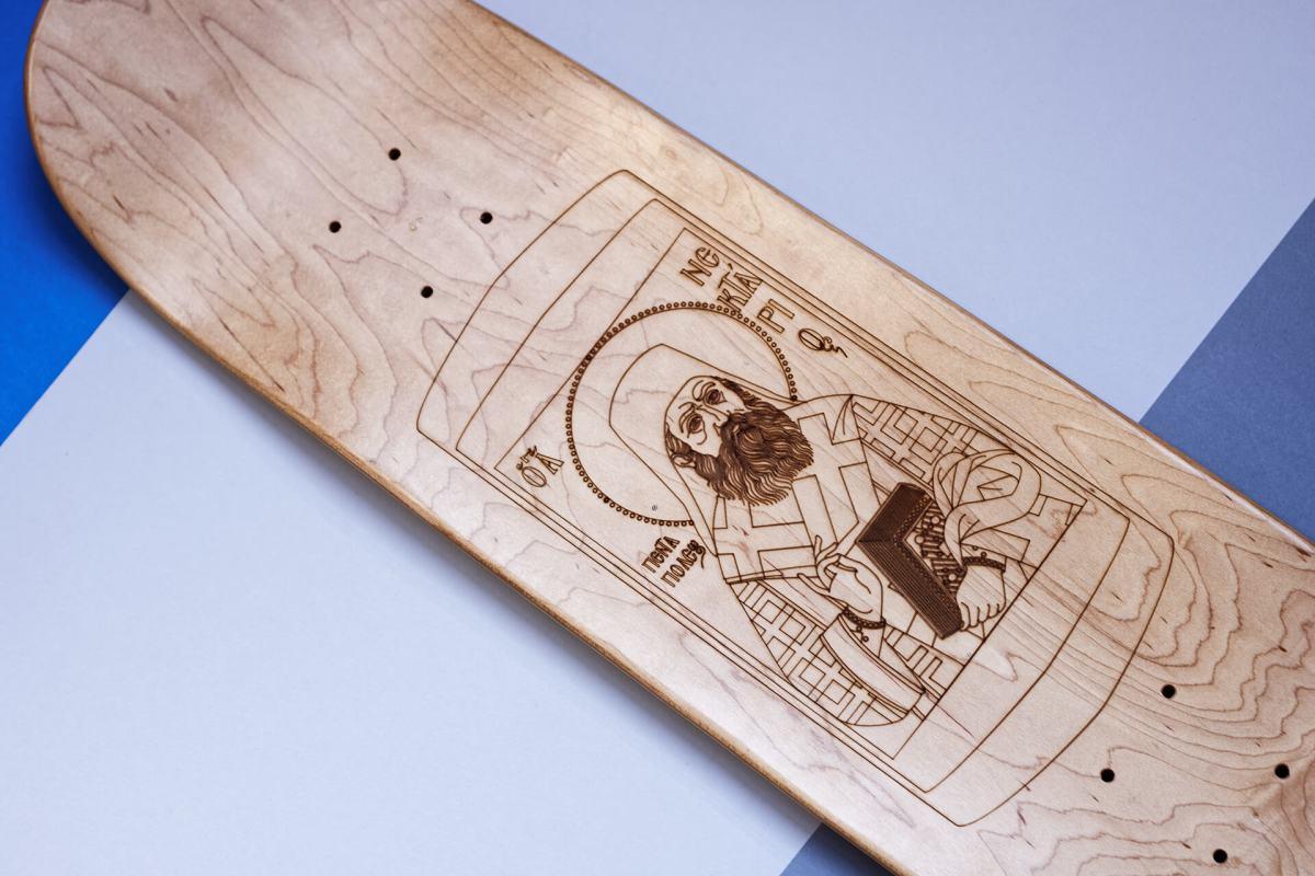 holy board skateboard custom made