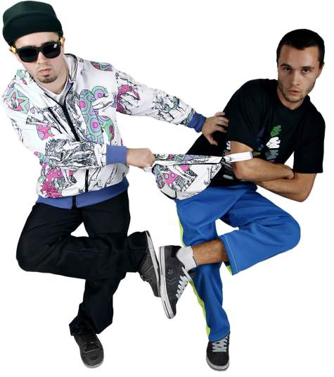 Delirious Bucharest duo fanny pack tshirt trousers jacket custom made street fashion wear clothes