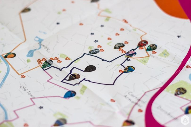 Un-hidden Bucharest printed map