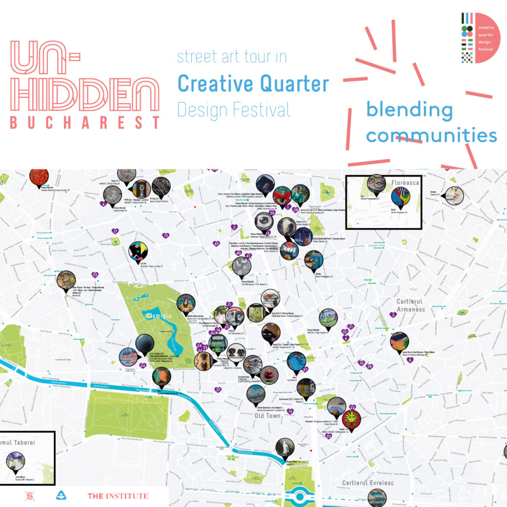 Un-hidden Bucharest Street Art Tour Creative Quarter Design Festival