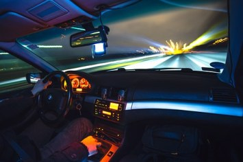 speeding a car