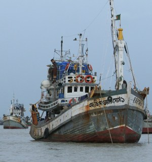 Small Trawlers at Chittagong Fish Harbor