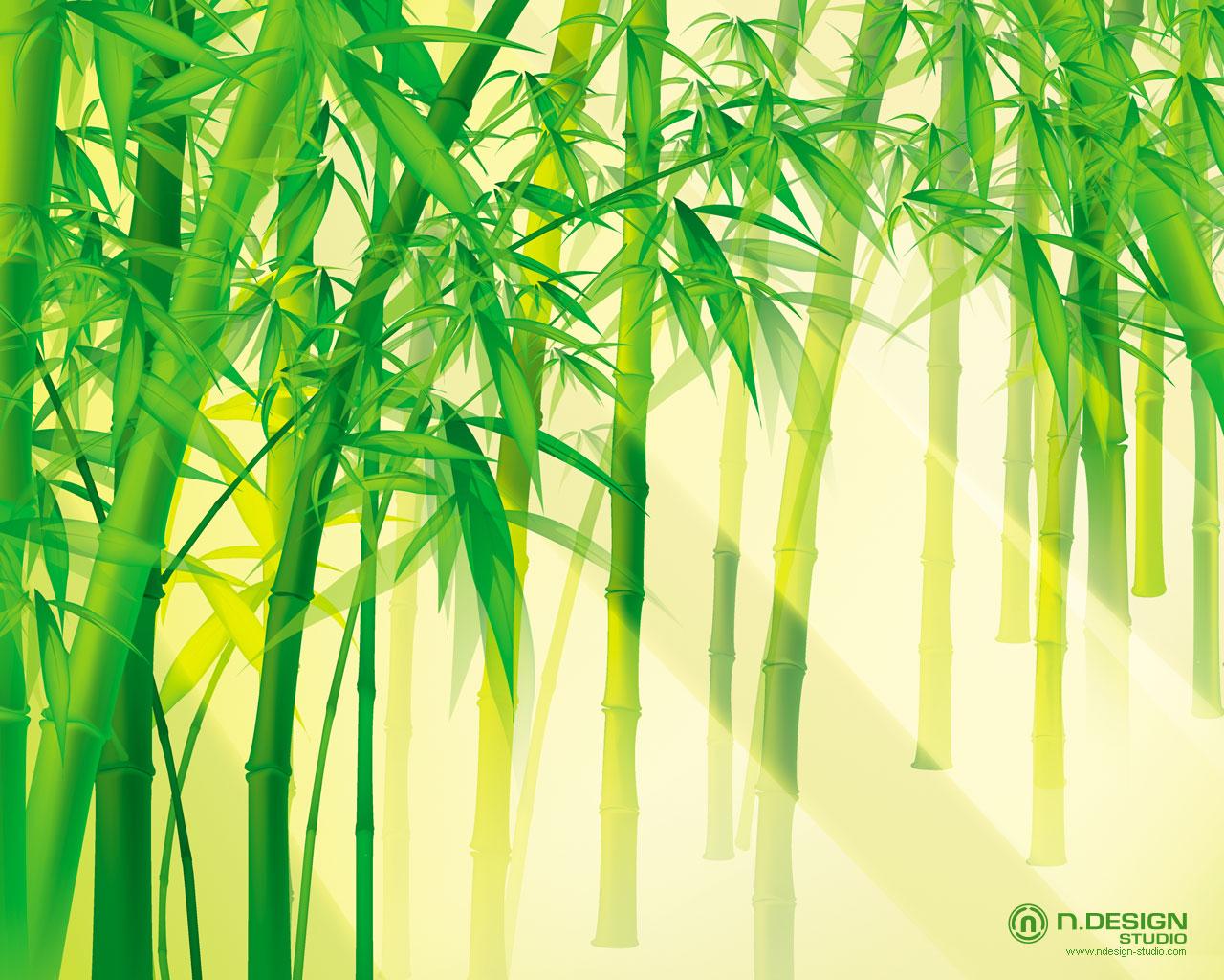 Bamboo scene - abstract wallpaper