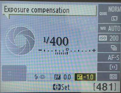 Exposure Compensation -1
