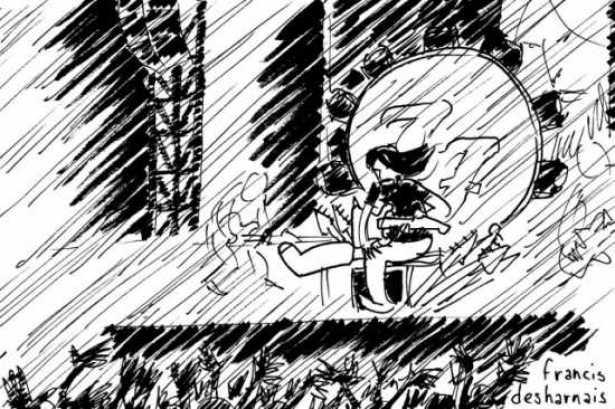 karikatur dari The Foo Fighters