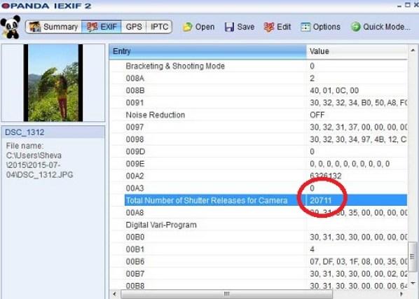 Apa Itu Shutter Count Di Kamera DSLR ?