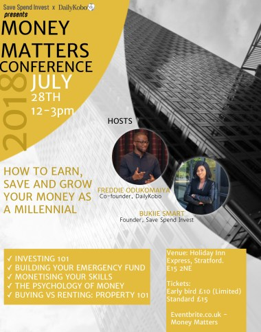 Money Matters Conference - Save Spend Invest