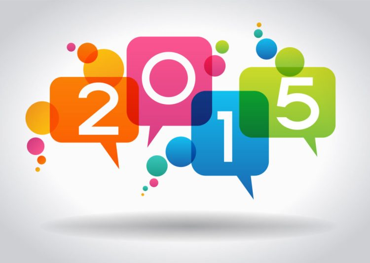 Vector 2015 Happy New Year background. The file is saved in the version AI10 EPS. This image contains transparency.