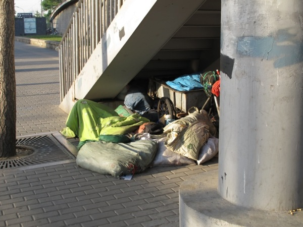Beijing-China-Photograph-Sleeping-Under-a-Bridge