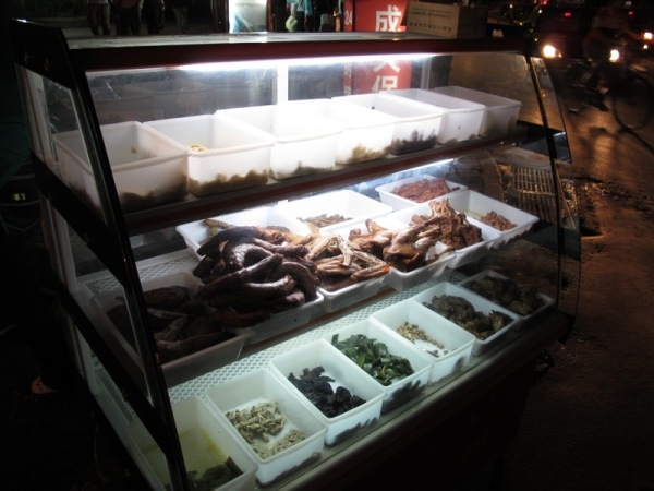 Beijing-Photograph-Street-Stall-Offal-In-Cases