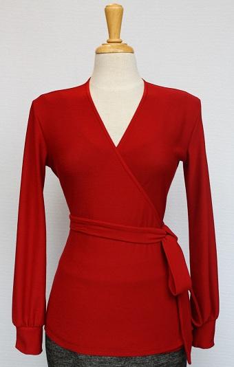 Bionic-Monique-Red-Wrap-Sweater