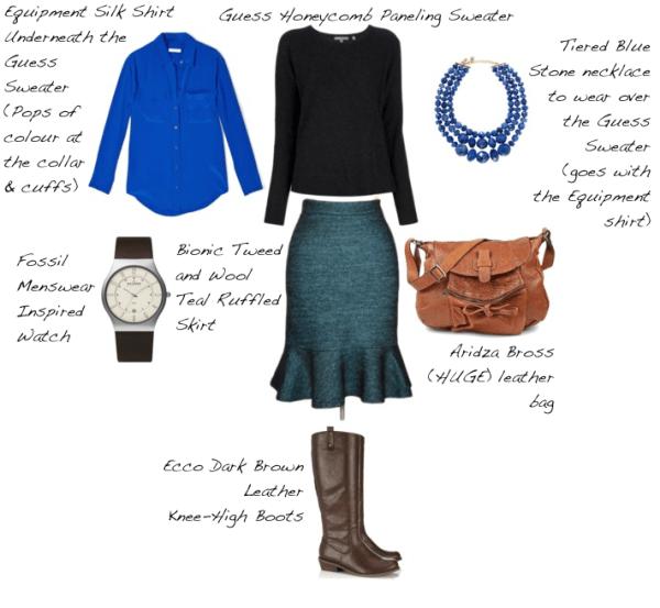 Closet-Wardrobe-Honeycomb-Sweater-Guess-Dark-Charcoal-Grey-Knee-High-Boots-Equipment-Silk-Shirt