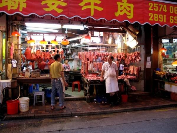 Photograph-Travel-Hong-Kong-Asia-Food-Market-Meat-Butcher