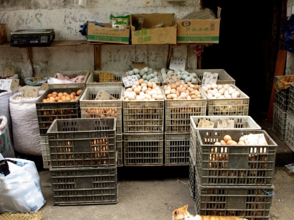 Shanghai-China-Photograph-Eggs-Market-Street-Food