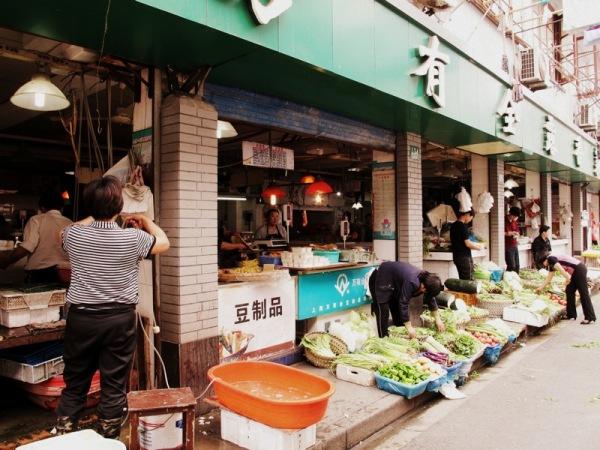 Shanghai-China-Photograph-Market-Street-Vegetables