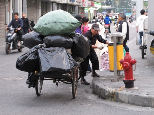 Shanghai-China-Photograph-Recycling-Garbage-Cans-Bottles