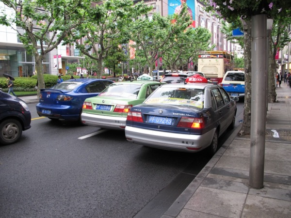 Shanghai-China-Photograph-Taxis-Cars-Transportation-Traffic