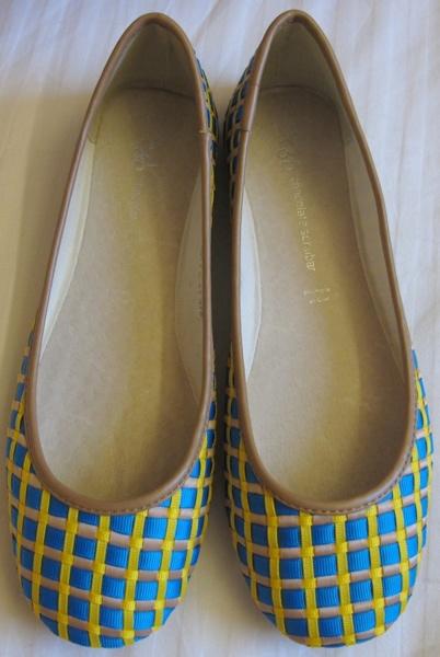 Singapore-Shoes-Blue-Yellow-Woven-Ballerina-Flats