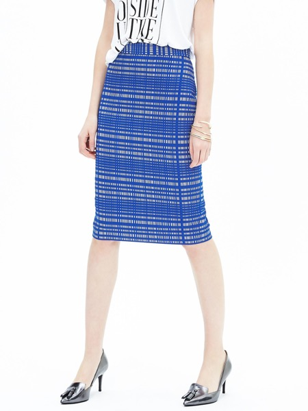 banana-republic-blue-jacquard-square-pencil-skirt-front