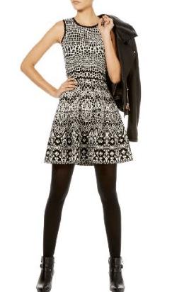 karen-millen-lace-jacquard-knit-dress