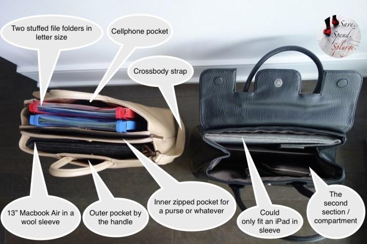 save-spend-splurge-review-matt-and-nat-dwell-collection-clarke-bag-black-kintla-macaroon-size-comparison-stuffed