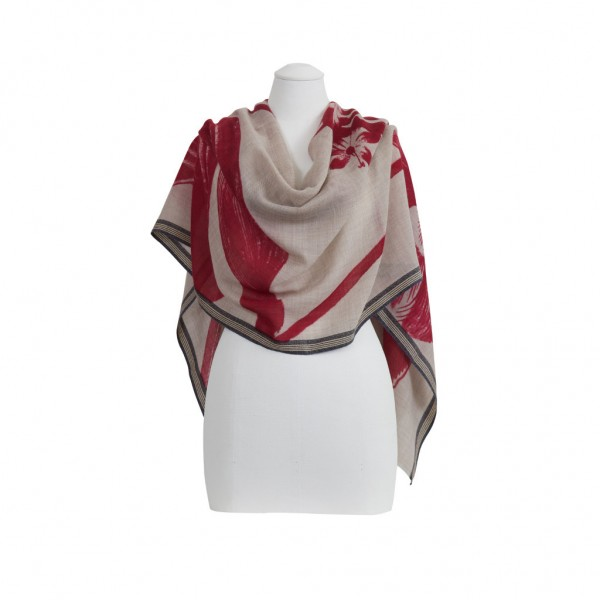 tilo-red-flower-bordered-wool-silk-scarf-draped