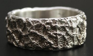 vdeux-lace-texture-silver-ring-etsy