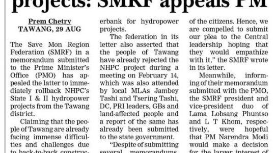 Rollback Hydropower Projects: SMRF Appeals PM