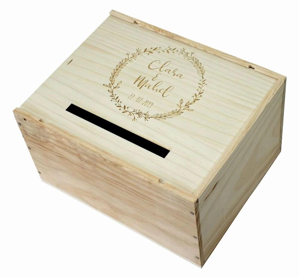 urne en bois personnalisable couronne