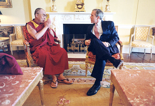 the Dalai Lama and US President George W. Bush [The White House ...