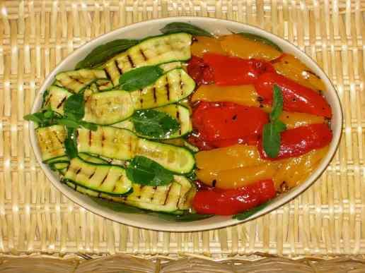 Zucchine grigliate e peperoni