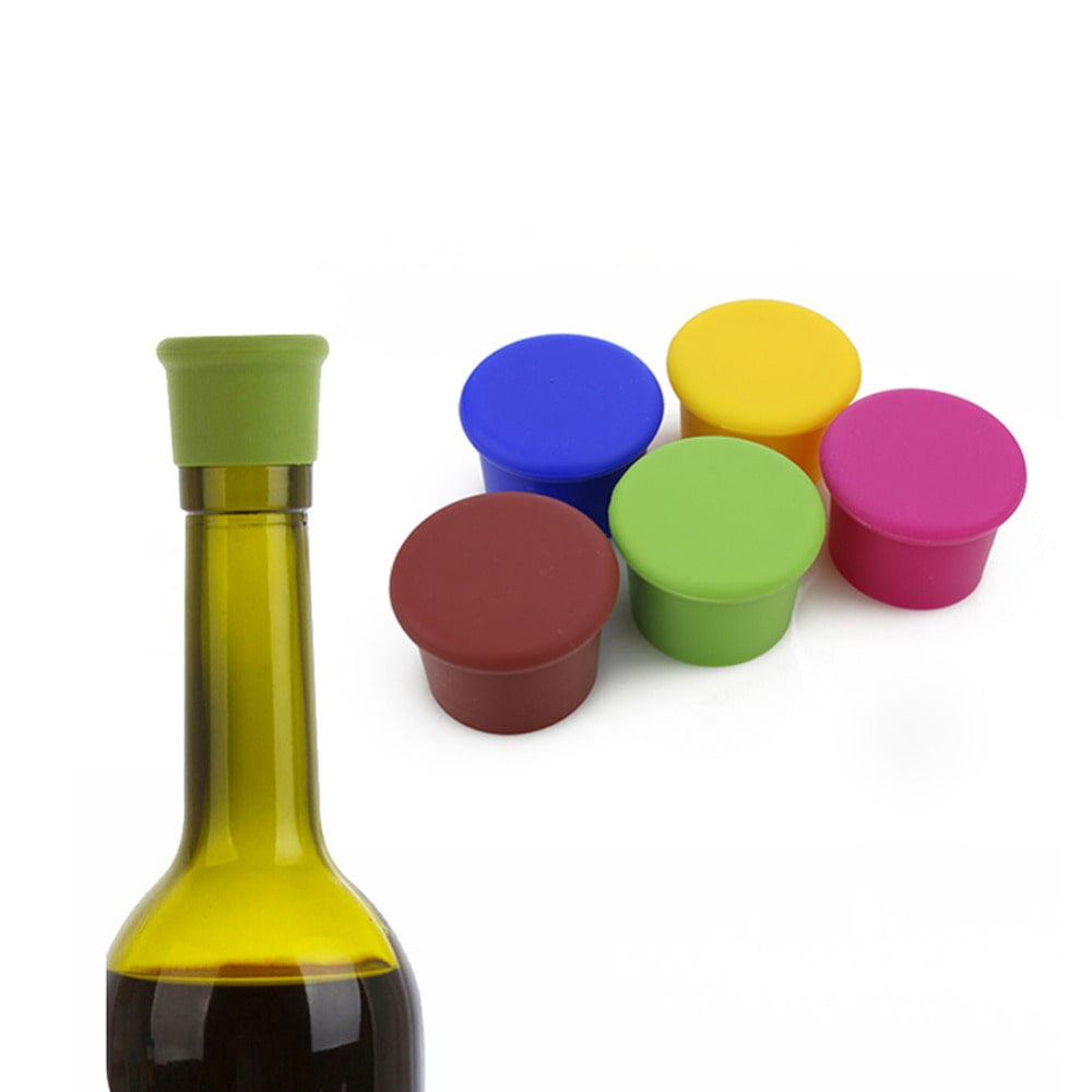 bouchon pour bouteille de vin en silicone x5