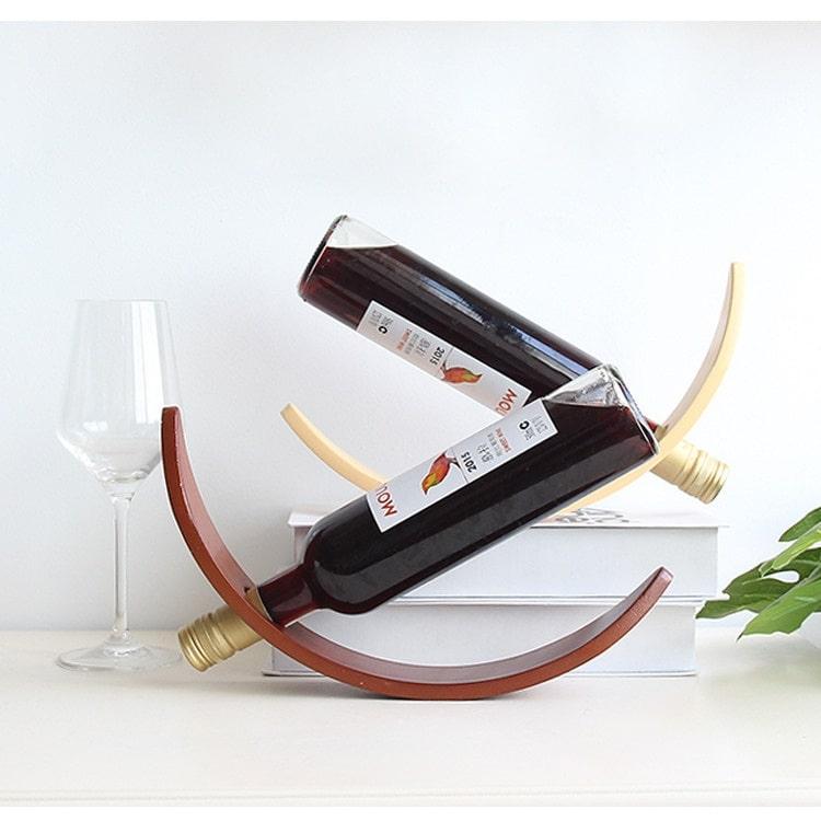 porte bouteille de vin en bois