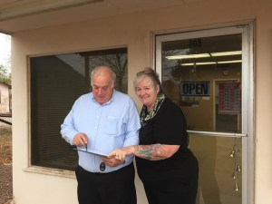 Deb Brown helping out in Eloy, Arizona