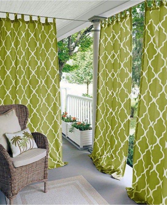 outdoor curtain ideas make garden