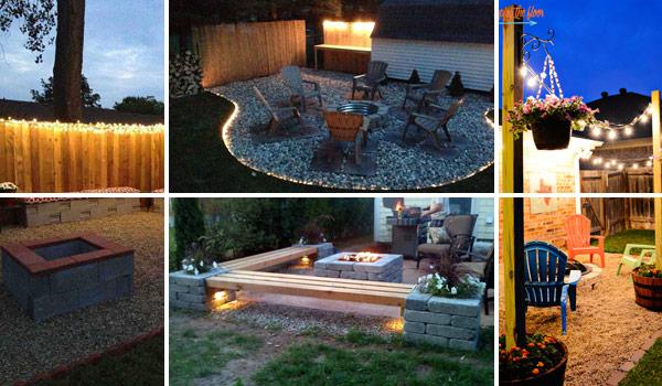 patio yard string lights ideas