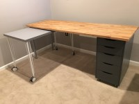 IKEA Hack: Custom, Transforming Home Office Desks