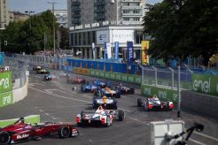 The Race. Berlin e-Prix, Alexanderplatz, Germany, Europe. Saturday 21 May 2016 Photo: Adam Warner / LAT / FE ref: Digital Image _L5R0422